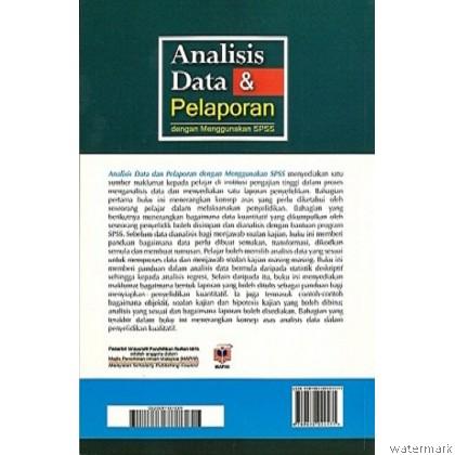 ANALISIS DATA & PELAPORAN DENGAN MENGGUNAKAN SPSS